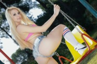 Lolly lovewell  swings. <p>Lolly Lovewell is so much fun. Join