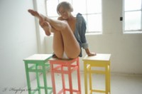 Hayley marie coppin  stools. <p>A simple; natural and lovely set. just me and some coloured stools. xxx</p>