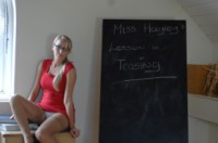 Hayley marie coppin  teacher. <p>Stand up in class; it is time to teach you a lesson; the cruel way ;-)</p>